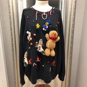 VINTAGE HAND CRAFTED UGLY CHRISTMAS SWEATER